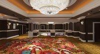 The Las Vegas Excalibur Hotel Lift and Escalator Lobby Interior 3D Model Scene