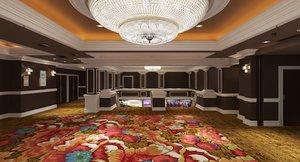 interior hotel 3D model