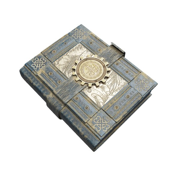 steampunk book 3D model