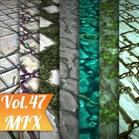Texture Set Vol.47 Hand Painted Mix (Stylized Texture Mix )