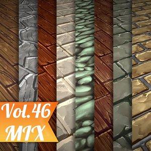 Texture Set Vol.46 Hand Painted Mix (Stylized Texture Mix )