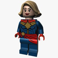 3D lego captain marvel