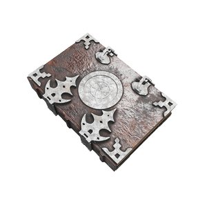 3D old spell book
