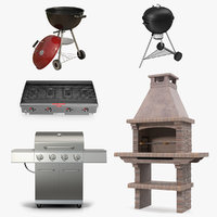 Grills 3D Models Collection 4