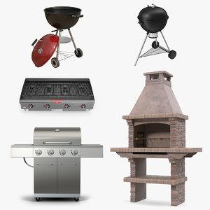 grills 4 3D model