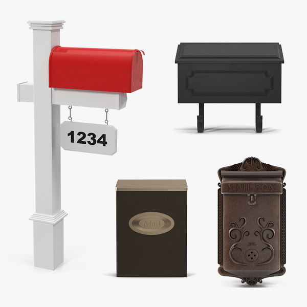 mailboxes 2 mail box 3D model