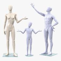 3D rigged mannequins man