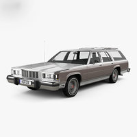 3D model mercury marquis colony