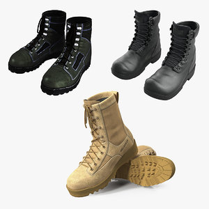 military boots 3D model