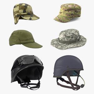 military hats 3D