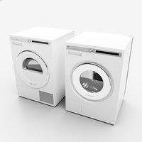 washing machine dryer 3D