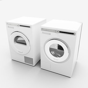 washing machine dryer 3D