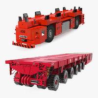 modular transporters rigged 3D model