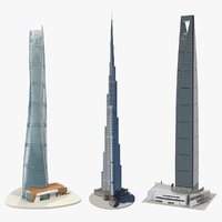 skyscrapers shanghai tower 3D