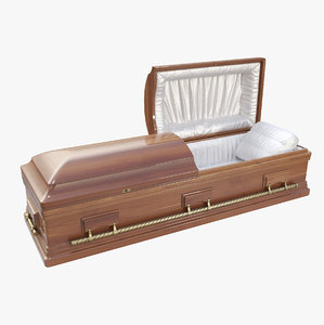 3D casket coffin
