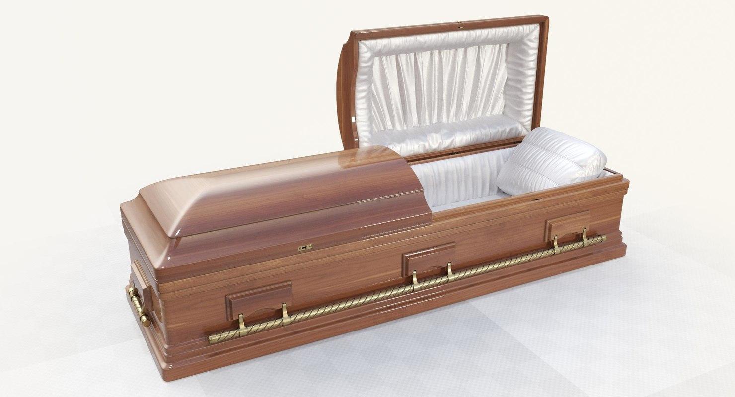 3D casket coffin