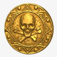 skull coin 3D model