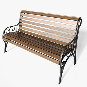 bench corona fstorm 3D model