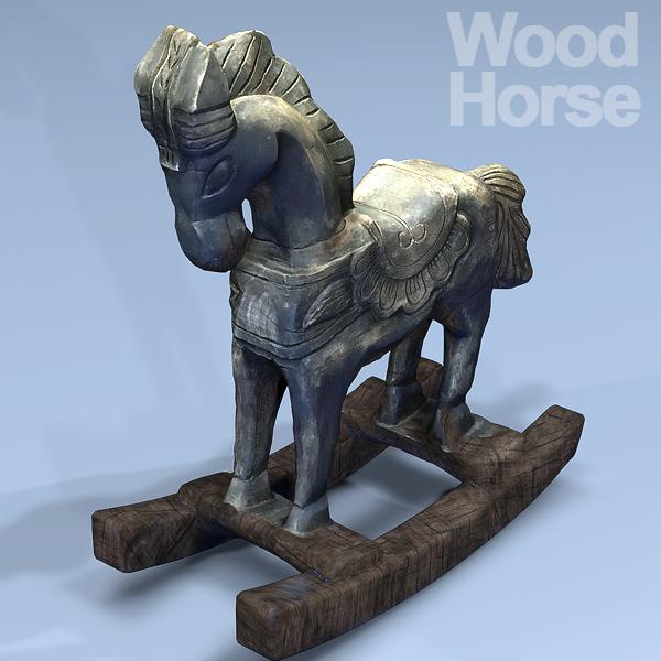 horse wood 3D model