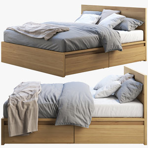 3D ikea malm bed 2