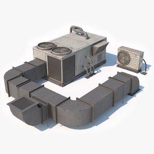 3D model pbr rooftop unit