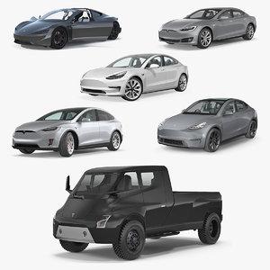 3D tesla cars 5 s model