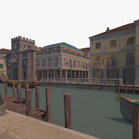 town venetian city 3D model