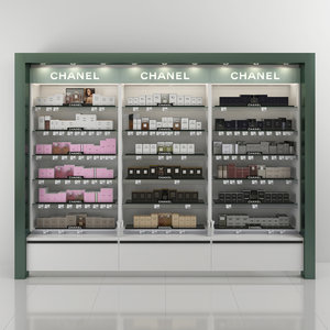 3D chanel perfume shelving model