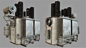 3D old rusty transformer pbr model