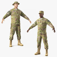 3D model army soldiers