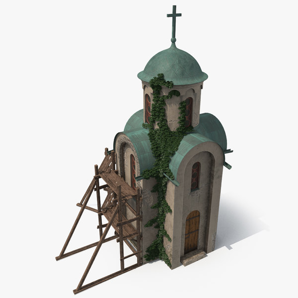 orthodox chapel 3D model