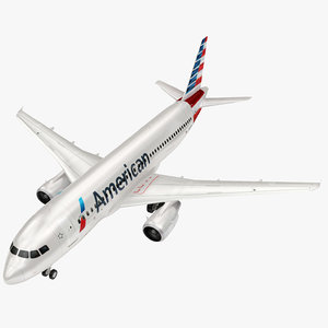3D airbus american a320 model