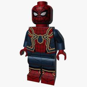 3D lego spider-man spider