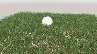 3D grass plants lawn