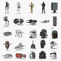 3D model star wars saga