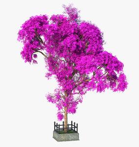 3D model tree lilac