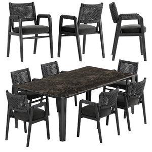 3D ortigia dining chair iseo