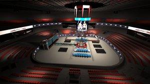 3D model ufc fighting arena