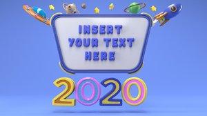cartoon message 3D model