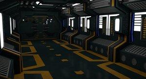 3D sci fi interior model