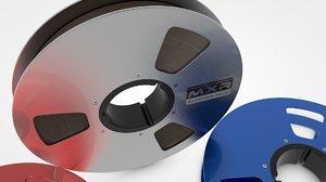 3D magnetic tape reel model