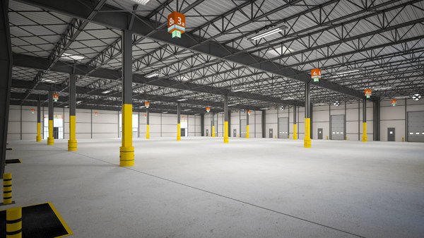 exhibition hall warehouse 4 3D