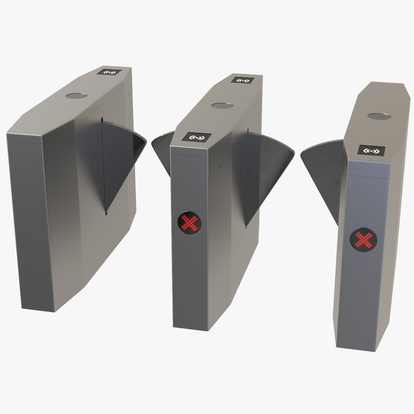 optical barriers access turnstiles 3D model