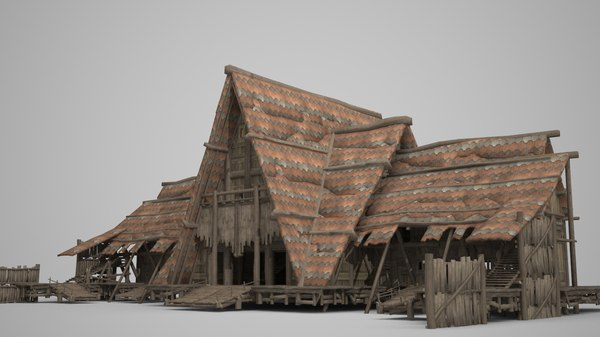 meeting hall ancient 3D model