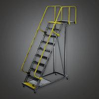 Standing Rail Ladder HLW - PBR Game Ready