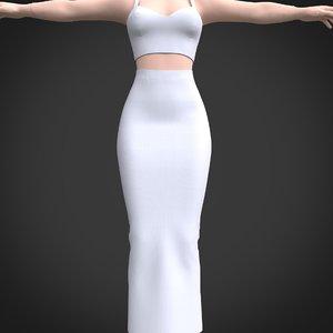 skirt crop 3D model