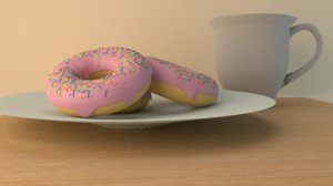donut cup model