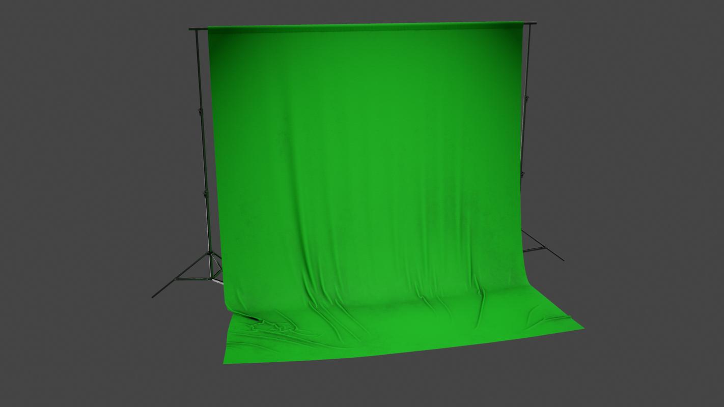 3D model pbr ready - green