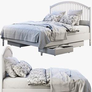 3D model bed storage