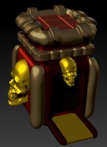 castle skull 3D